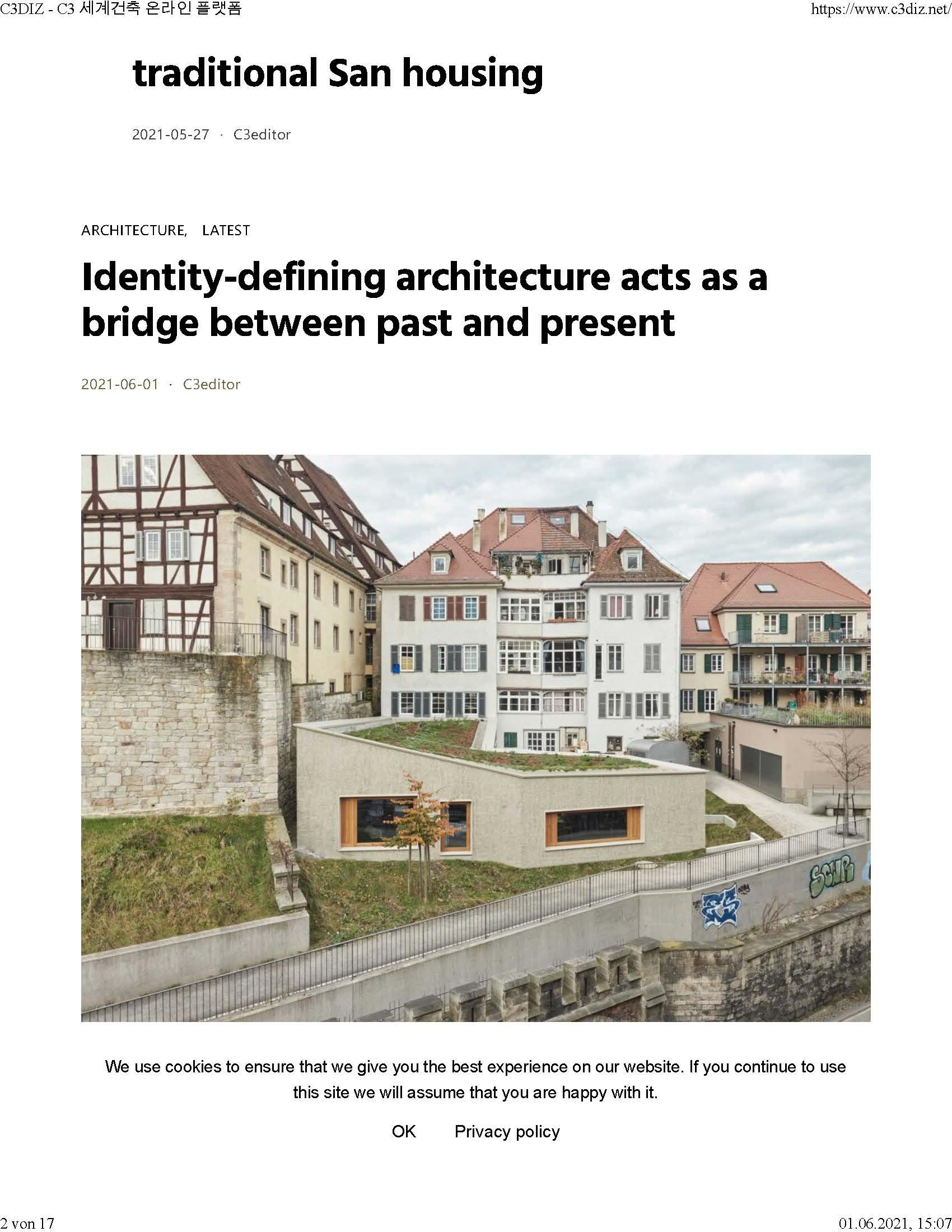 Veröffentlichung  Anbau und Umbau Wohn- und Geschäftsgebäude in Tübingen auf der koreanischen Architekturplattform C3DIZ ({project_images:field_row_count})