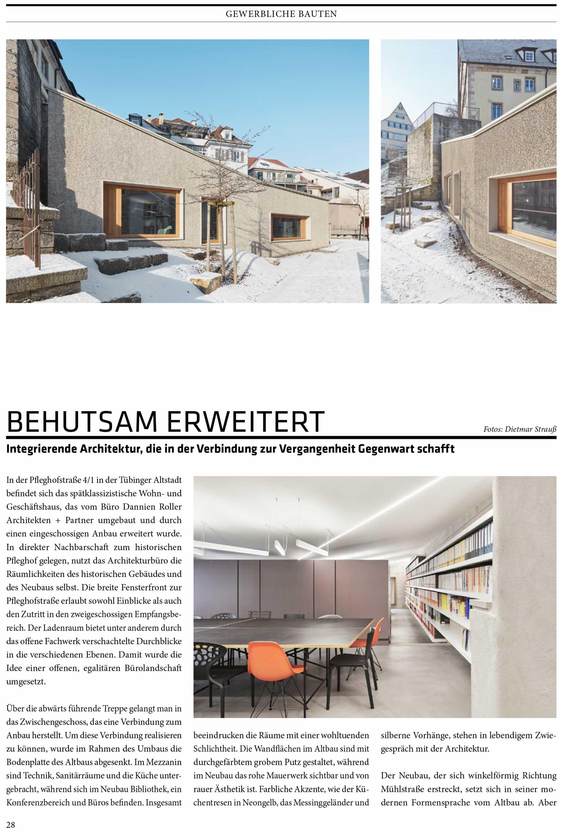 Veröffentlichung  Anbau und Umbau Wohn- und Geschäftsgebäude in Tübingen in dem Architekturmagazin CUBE Ausgabe 01/21 ({project_images:field_row_count})