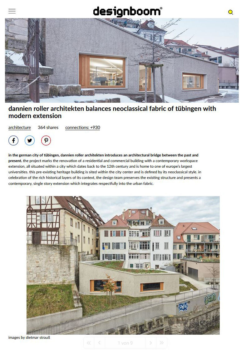 designboom publiziert unser Projekt in der Tübinger Altstadt ({project_images:field_row_count})