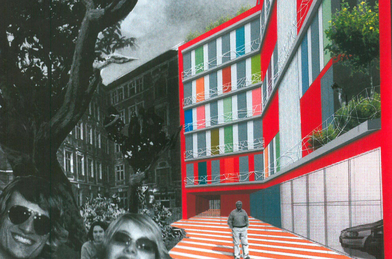 Studie Wohngebäude als Baustein im Block mit flexiblem Seitenflügel (3)