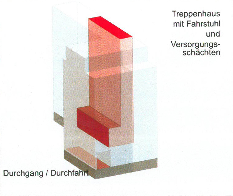 Studie Wohngebäude als Baustein im Block mit flexiblem Seitenflügel (5)
