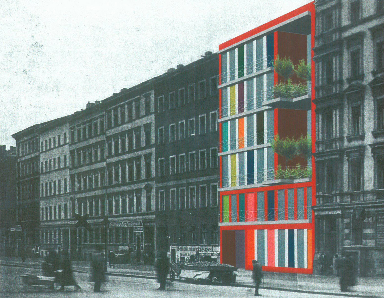 Studie Wohngebäude als Baustein im Block mit flexiblem Seitenflügel (7)