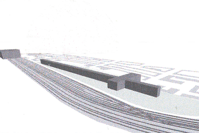 Wohnsiedlung an den Bahngleisen (2)