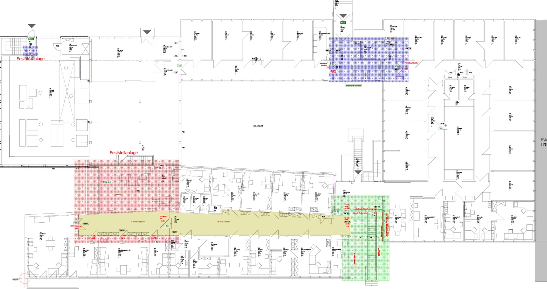 Brandschutzsanierung Institutsbau mit Laboren und Büros (2)