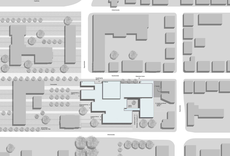 Sanierung Universitätsmensa in Baudenkmal mit Anbau (14)