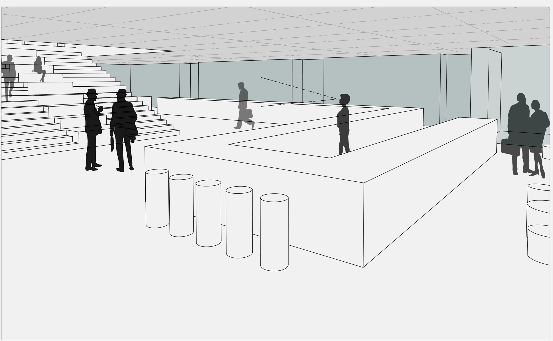 Sanierung Universitätsmensa in Baudenkmal mit Anbau (3)