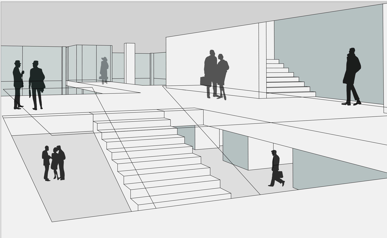 Sanierung Universitätsmensa in Baudenkmal mit Anbau (4)