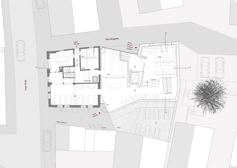 Gaststätte und Museum Traube, denkmalpflegerische Modernisierung, Umbau und Anbau (2)