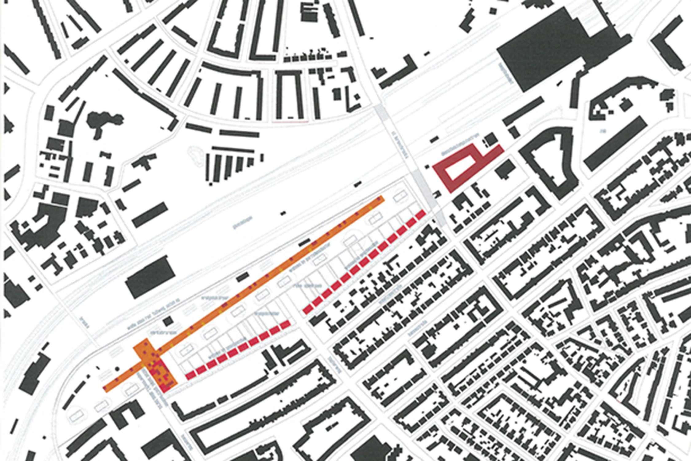 Wohnsiedlung an den Bahngleisen (1)