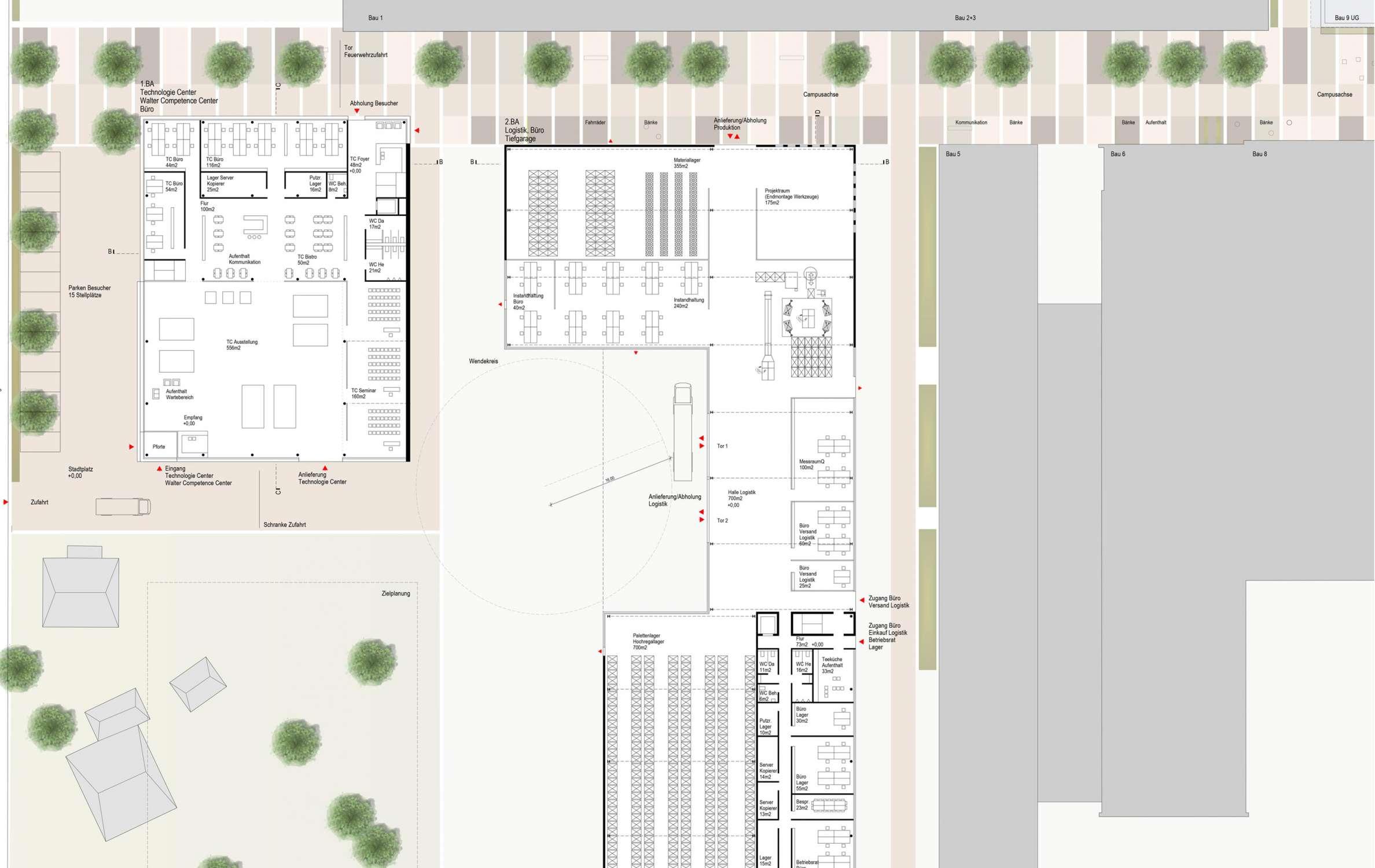 Betriebscampus mit Entwicklungszentrum und Kantine (2)