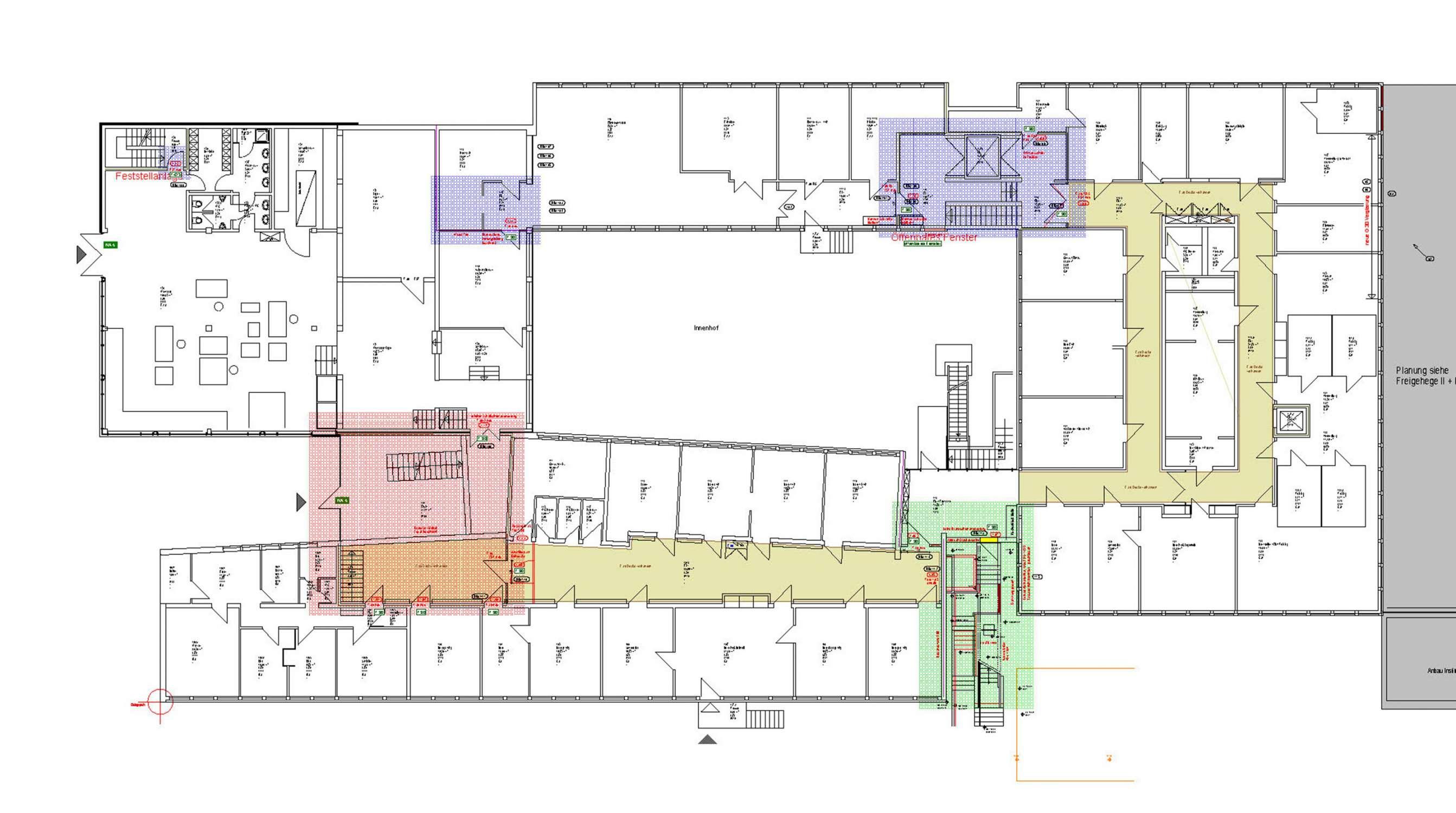 Brandschutzsanierung Institutsbau mit Laboren und Büros (1)