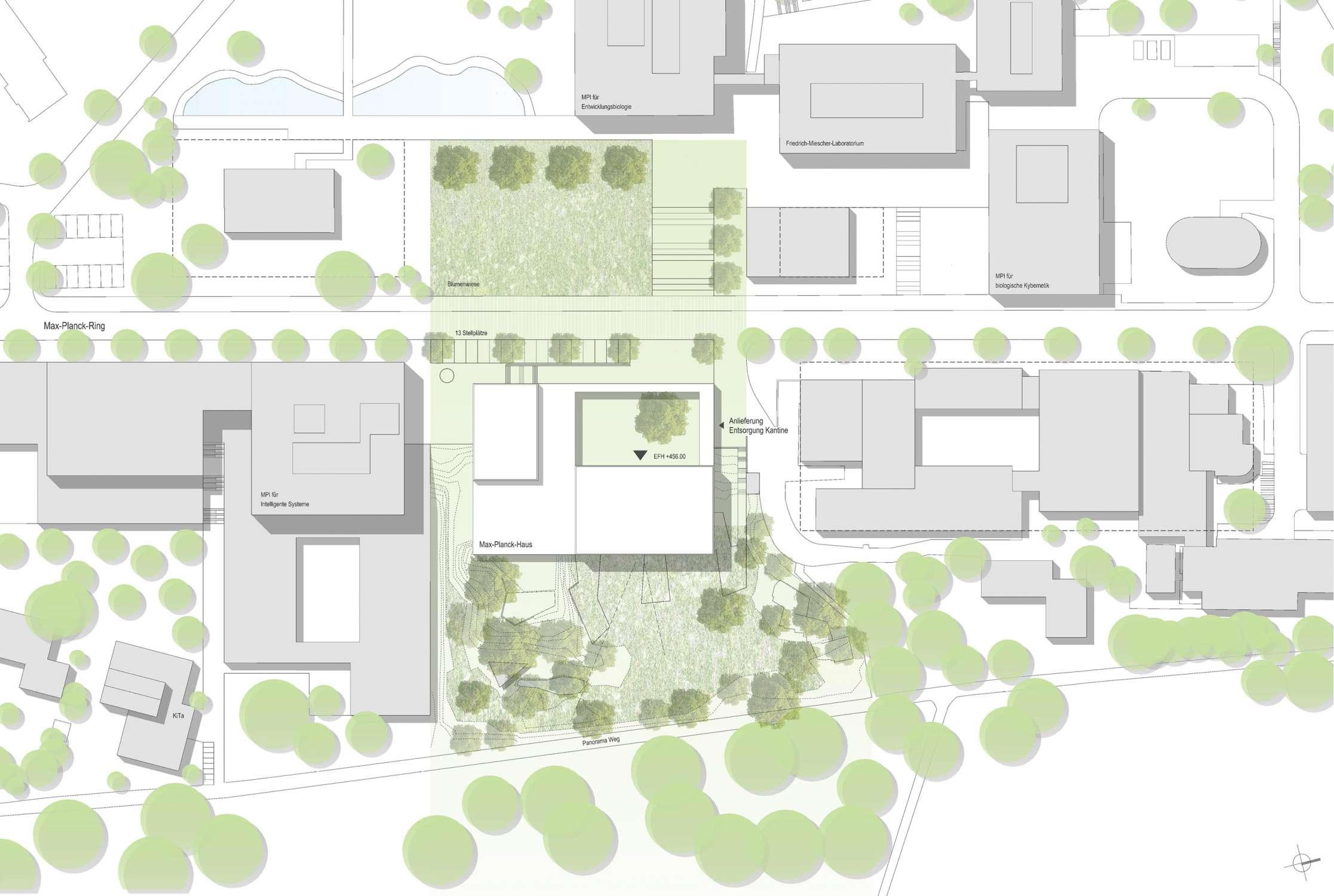 Neubau Zentralgebäude als Hörsaal, Mensa und Seminargebäude (1)