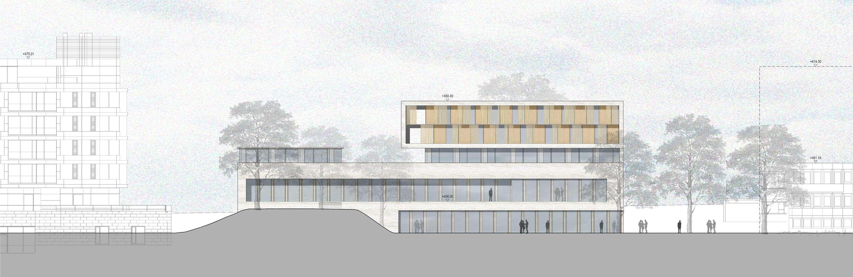Neubau Zentralgebäude als Hörsaal, Mensa und Seminargebäude (8)