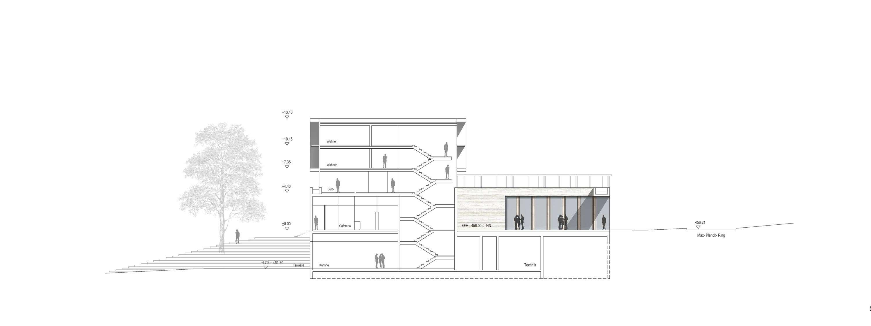 Neubau Zentralgebäude als Hörsaal, Mensa und Seminargebäude (10)