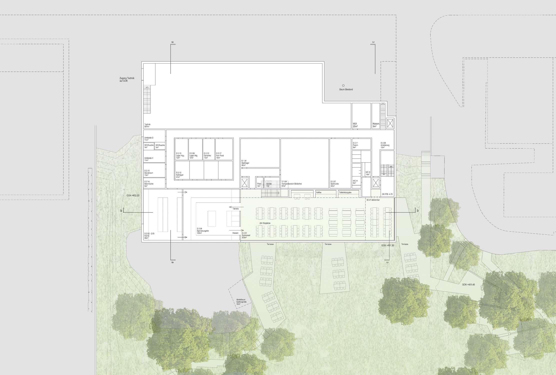 Neubau Zentralgebäude als Hörsaal, Mensa und Seminargebäude (2)