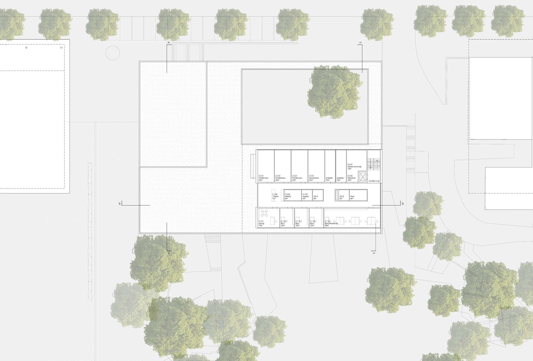 Neubau Zentralgebäude als Hörsaal, Mensa und Seminargebäude (4)