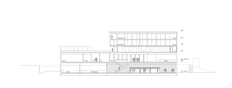 Neubau Zentralgebäude als Hörsaal, Mensa und Seminargebäude (5)
