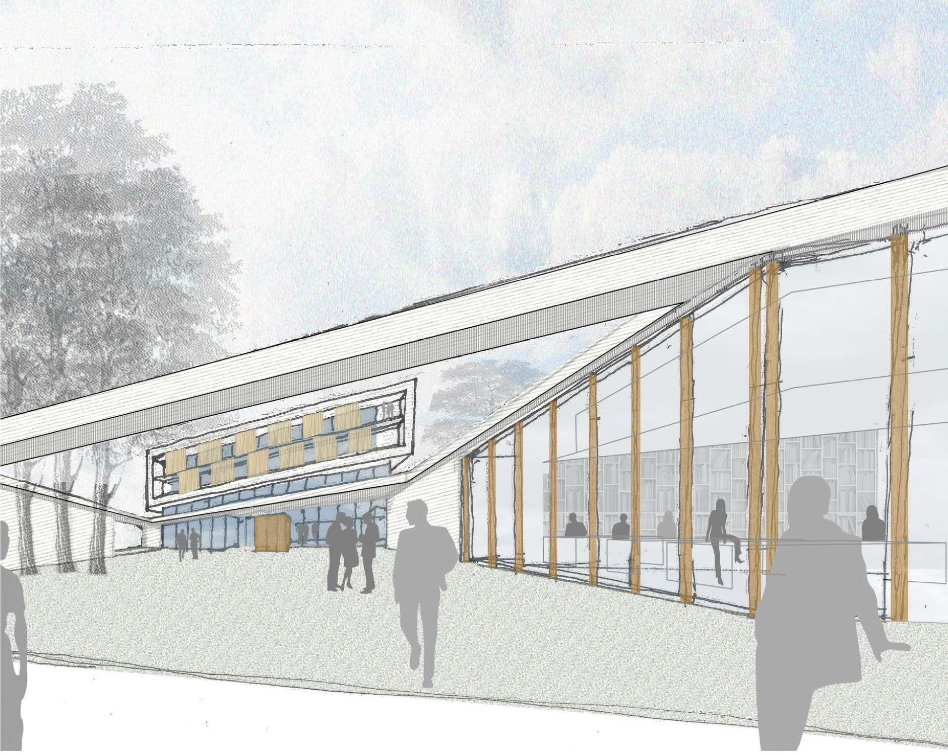 Neubau Zentralgebäude als Hörsaal, Mensa und Seminargebäude (12)