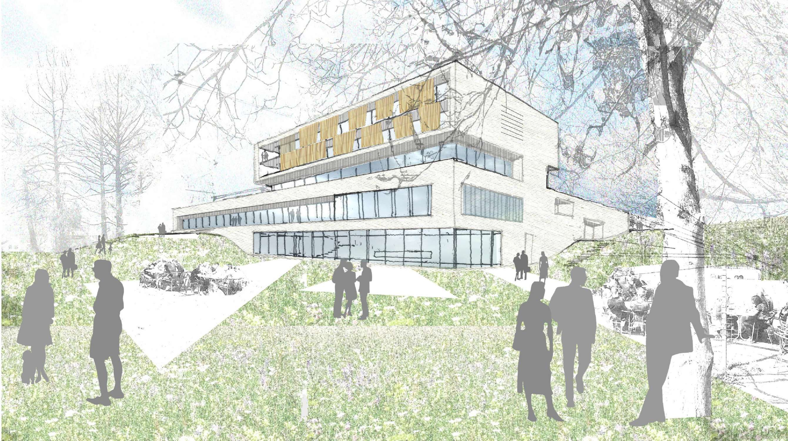 Neubau Zentralgebäude als Hörsaal, Mensa und Seminargebäude (11)