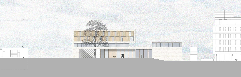 Neubau Zentralgebäude als Hörsaal, Mensa und Seminargebäude (6)