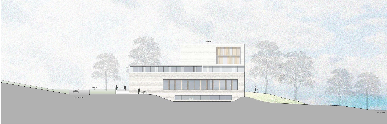 Neubau Zentralgebäude als Hörsaal, Mensa und Seminargebäude (7)