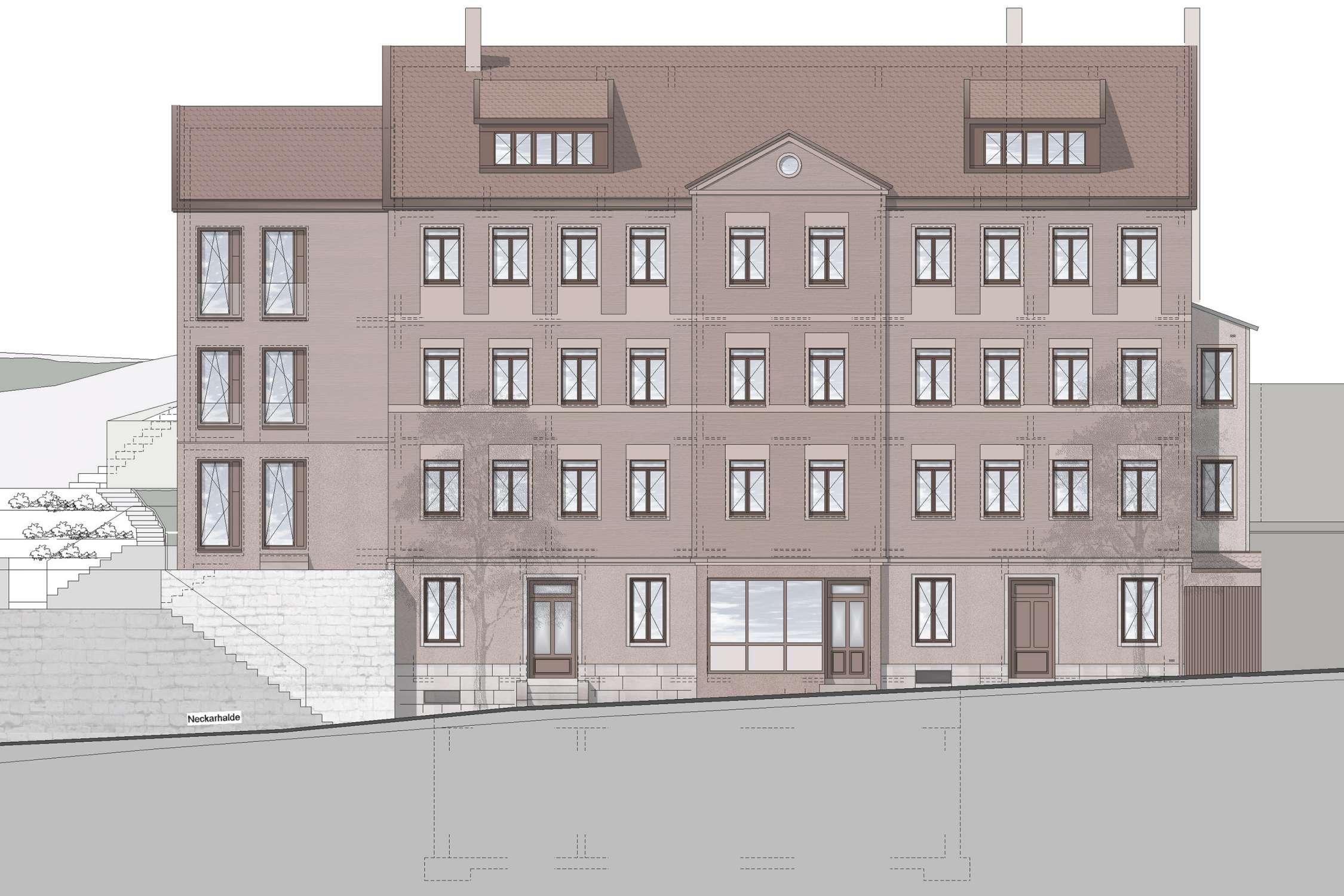 Kernsanierung und Anbau Wohn- und Geschäftshaus  (2)