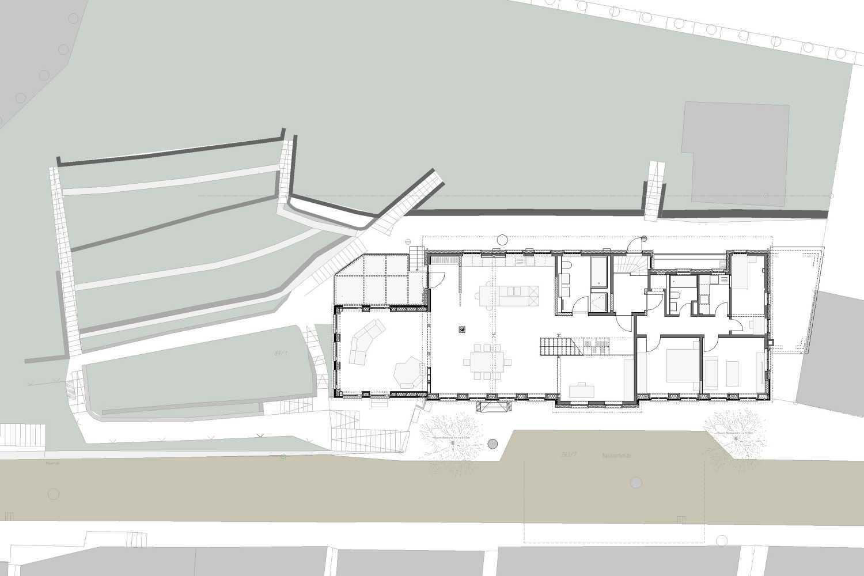 Kernsanierung und Anbau Wohn- und Geschäftshaus