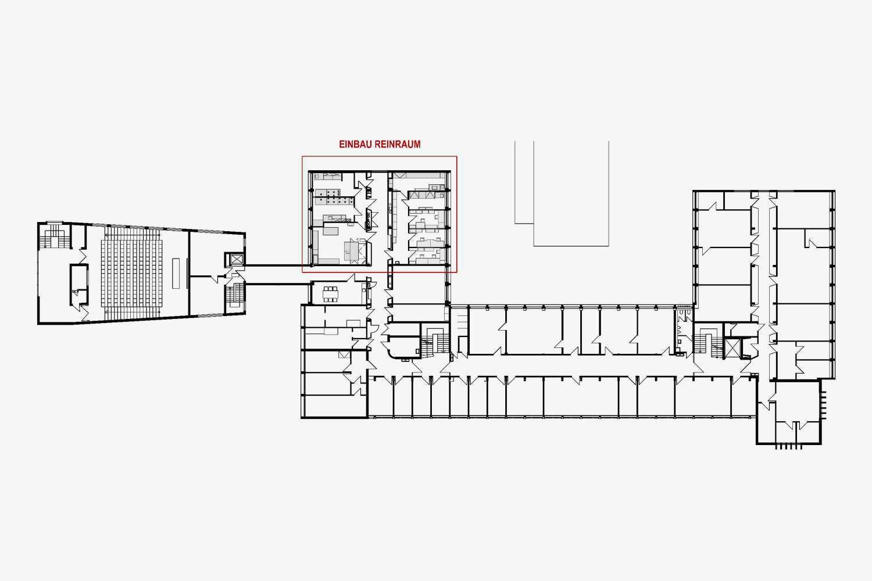 Umbau Büros zu Reinräumen im Institut für Isotopengeochemie