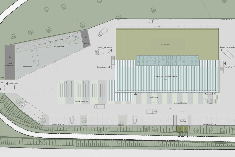 CO2-neutrales Werkstattgebäude und Betriebshof