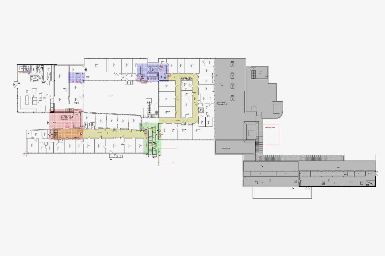 Brandschutzsanierung Institutsbau mit Laboren und Büros